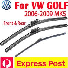 Wiper blades for VW Volkswagen GOLF MK5 Hatch 2006-2009 MK5 front pair +rear