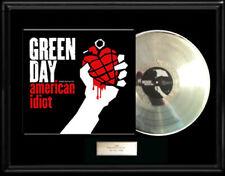 GREEN DAY AMERICAN IDIOT  WHITE GOLD SILVER PLATINUM TONE RECORD LP RARE