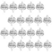 "20 PCS 1/4"" Clear Inline Fuel Gas Filter 394358 for Briggs & Stratton 75 Micron"