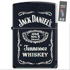 Zippo 3742 jack daniels old no 7 black matte Lighter + FLINT PACK