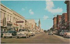 Patterson Street Looking North in Valdosta GA Postcard