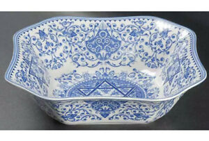 """New Spode BLUE ROOM JUDAICA COLLECTION 9 1/2"""" Salad Serving Bowl"""