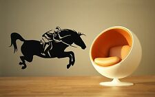Wall Stickers Vinyl Decal Horse Racing Horse Rider Sport Polo Wall Decor  ig004