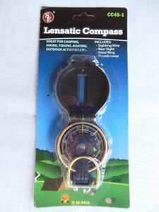 Lensatic Compass Emergency Disaster Survival Gear Camping Hiking
