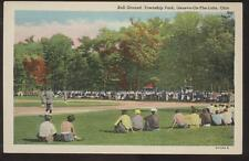 Postcard Geneva on the Lake,Ohio/OH   Baseball Field in Action 1930's