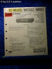 Sony Service Manual TC WE405 / WR350Z / WR661 Cassette Deck (#2500)