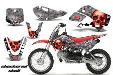 Decal Graphic Kit Wrap For Kawasaki KLX 110 2002-2009 KX 65 2002-2018 CHECKER R