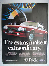FORD FALCON 1985 XF S PACK MAGAZINE FULLPAGE COLOUR ADVERTISEMENT