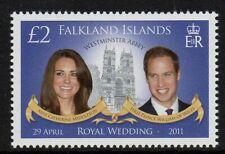 Falkland Is. 2011 Royal Wedding set fine fresh MNH