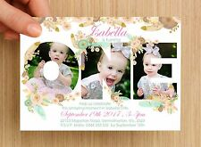 Personalised Boho First Birthday Kids Birthday Invitation #1 - UNLIMITED QTY