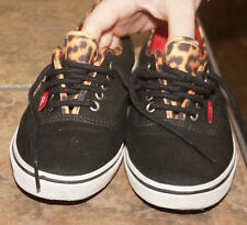 be758f9f65c New ListingVANS OLD SKOOL BLACK CANVAS LACE UP SNEAKERS Leopard Lining  Tongue 7 Women 5.5 M