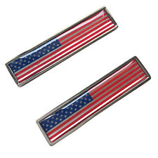 Stainless Metal USA Flag of United States Sticker Emblem For FORD F150 F250