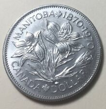CANADA 1870-1970 MANITOBA CENTENNIAL ONE DOLLAR COIN - QUEEN ELIZABETH II
