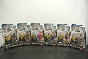 DC JUSTICE LEAGUE Set of 6 Batman Cyborg Wonder Woman Flash Superman Aquaman NIB