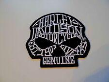 Patch Aufnäher Aufbügler Harley Davidson Skull Kopf Schriftzug