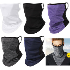 Balaclava Neck Tube Scarf Bandana Head Face Cover Neck Gaiter Ear Loops Headwear