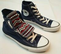 Converse Chuck Taylor All Star Blue Aztec Pattern High Top Trainers UK 6 RRP £75