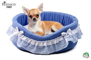 Lettino Cuccia da Interno cane taglia piccola, Maltese, Chihuahua, MADE IN ITALY