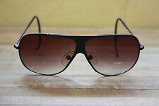 Vintage Aviator sunglasses new 80's UV400 wings black lens metal frame