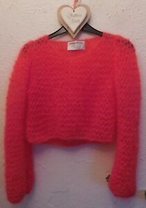 """'MOHAIR4PUNX' Punk CROPPED sweater / Crushed Strawberry mohair (S up to 34"""")"""
