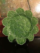 "1 Bordello Pinheiro Portugal Pottery Green Geranium 13"" Chop Plate/Platter/Tray"