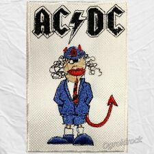 Ac/Dc Angus Young Cartoon Embroidered Patch Malcolm Brian Johnson Rock Band