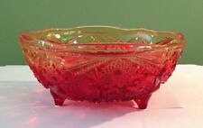 VINTAGE AMBERINA FOOTED CANDY DISH