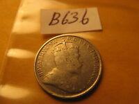 Canada 1902 No H Rare 5 Cent Silver Coin ID# B636.