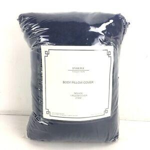 "Evolve Soft Microfiber Body Pillow Cover 21"" X 54"" - Navy Blue"