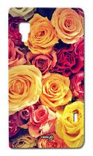 CUSTODIA COVER CASE MAZZO DI ROSE FIORI FLOWER PER LG OPTIMUS L5 II E460