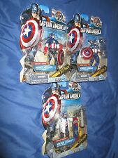 "CAPTAIN AMERICA Hasbro/Marvel 3.75""/3 3/4"" Figure Lot~Winter Combat/Super/Night"