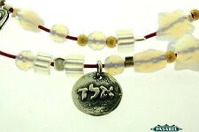 Sterling Silver & Opalite Kabbalah Amulet Necklace