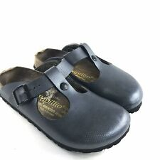 Papillio By Birkenstocks Womens Frankfurt Slip On Shoes Blue Metallic 6 37 Mules