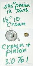 3:1 Crown and Pinin Gear Set by GARVIC Vintage Original 1960's #701 NOS