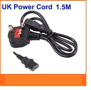 1.5M KETTLE IEC MAINS C13 UK 3 PIN POWER LEAD CABLE PLUG CORD PC MONITOR PRINTER