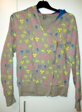 Cyberdog cyber dog hoodie jacket size small gray with colourful symbols and hood