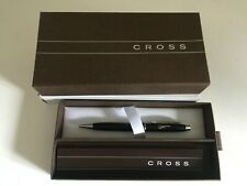 NEW - Cross Stratford Satin Black pen with Manchester Airport logo in Gold