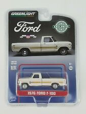 Greenlight Hobby Exclusive 1976 Ford F100 White Truck Bicentennial Group