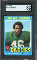 1971 TOPPS #194 LEE BOUGGESS SGC 8 RC ROOKIE EAGLES  *K3796