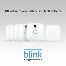 Blink - Wireless Home Security 5 Camera INDOOR System - White