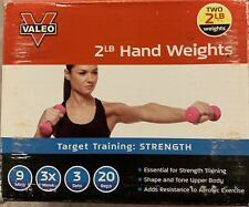 Valeo 2 Pound Dumbbells, Brand New In Box, Arm Strengthening/Toning/Rehab