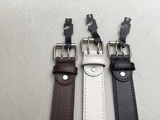 Men's/ Womens  Unisex  2 Hole Grommets Leather Belts Double prong roller buckle