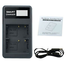 LCD Dual Slot BP-511 BP511A Battery Charger for Canon EOS 40D 300D 5D 20D 30D g
