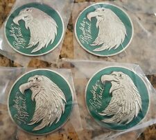 NOS Green Eagle Head Roadster Wire Wheel Medallions