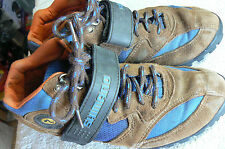 SHIMANO HIKING-RIDING-ANKLE BOOTS W/ VELCRO STRAP-WMNS SZ 9- EUR 40-GRT CONDTN