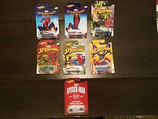 "2016 ""Spider-Man: Homecoming"" Hot Wheels set- killer graphics + rare chase car!"