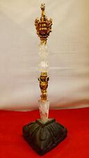 "Crystal Copper Gold Plated Horse Head Ritual Dagger Phurba 11"" H Handmade Nepal"