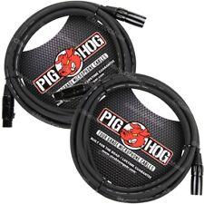 2 Pig Hog 15' Foot Ft Microphone Cable XLR Lifetime 8mm Tour Grade PHM15 PigHog