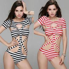 Scoop Neck Monokinis Swimwear Briefs for Women