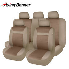 Jacquard Car Seat Covers Universal Airbag Compatible Flying banner van beige
